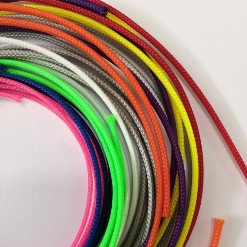 ID.3mm~76mm Colorful PET Braided Expandable Cable Sleeve