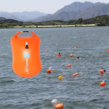Wholesale Open Water Pool Sea Safety Inflatable PVC Swim Buoy Bag