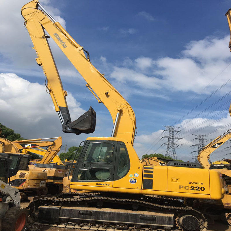 Original Used/Secondhand Komatsu PC220-6/PC220 long boom 18M Excavator construction machinery for sale