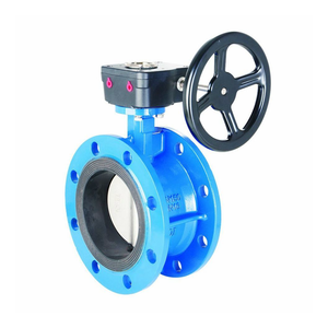 DN150 new gear operators flange cast iron butterfly valve