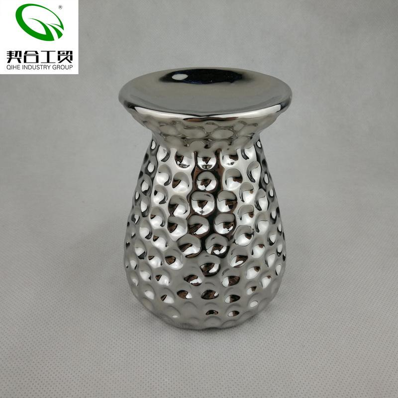 Silver plating wholesale best quality hotel decoration pieces home decor ceramic aromatherapy oil burner for tealight candles