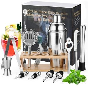 Cocktail Machen Set, Cocktail Shaker Set, Bar Tool Set Bartender Kit mit Stand