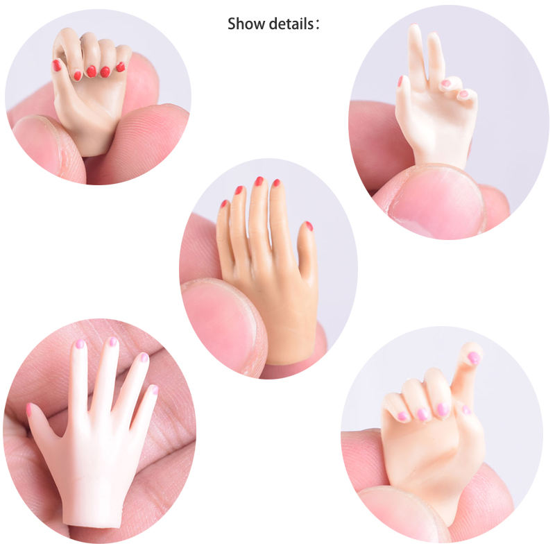 5 pairs of Hands Model 1:6 scale Female Body Replaceable Hand Type For 12 inch Ph JIAOUL Body Model Toy