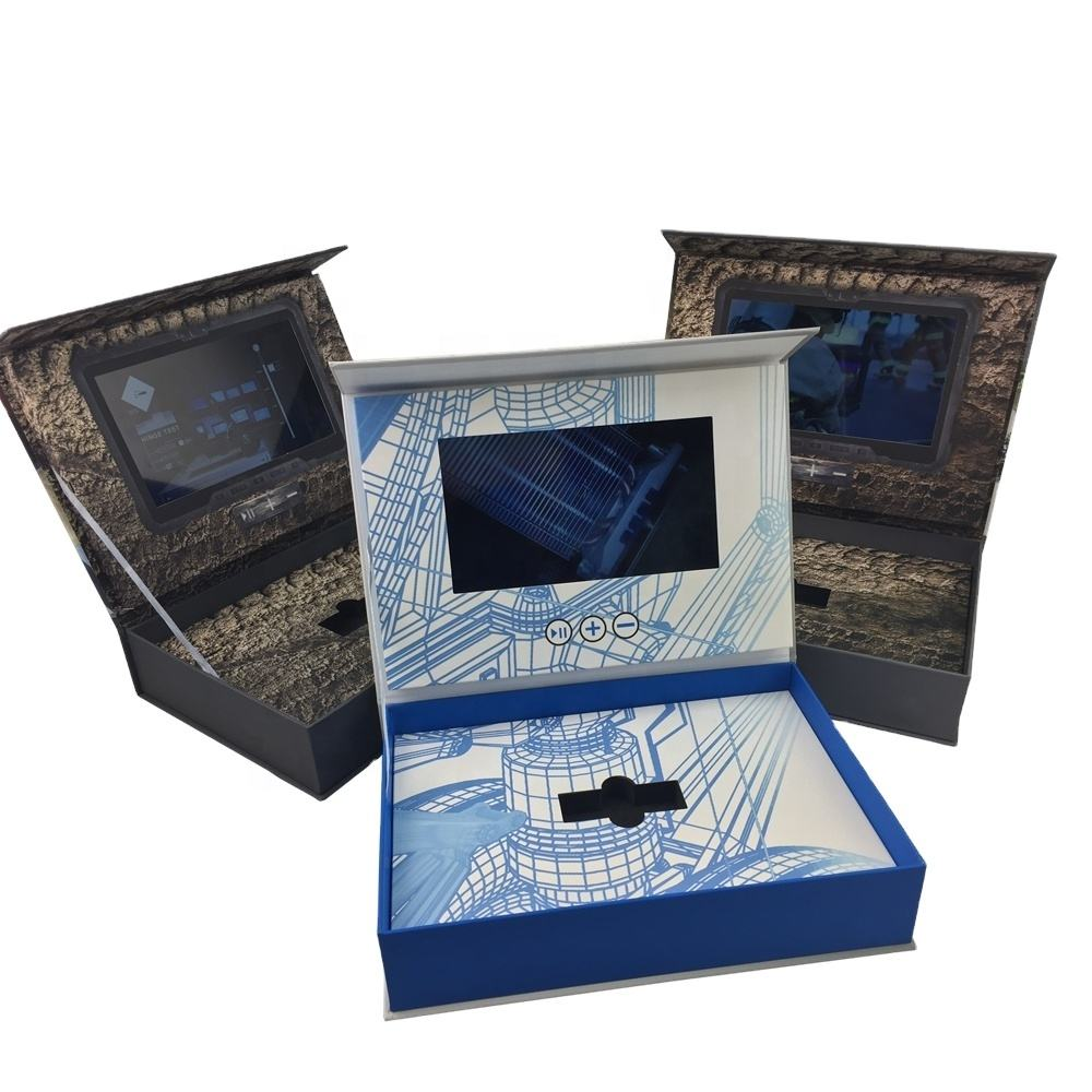 Newest Design 7 inch Video display Boxes/ Video Mailer/video packaging