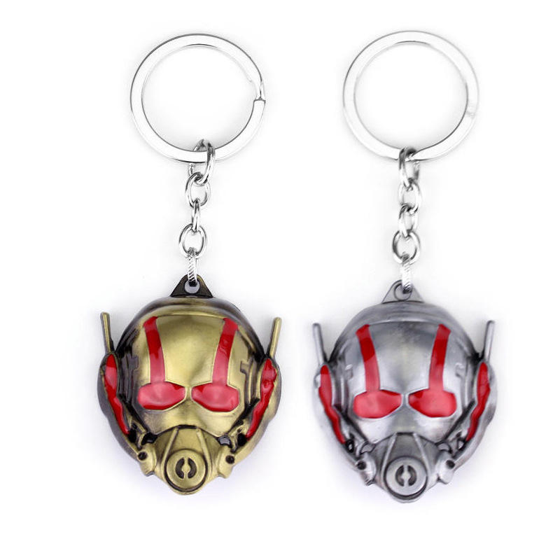 New Comics Ant Man 3D Helmet Metal Keychain for Birthday Gift