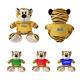 Sport Tiger Tiger Promotion OEM Sport Mascot Toys Custom LOGO Stuffed Animal Soft Plush Tiger Toy