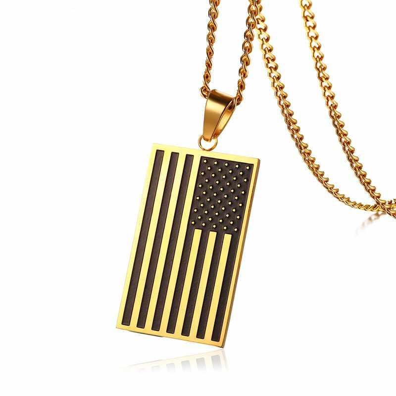 Nieuwe Rvs Militaire Amerikaanse <span class=keywords><strong>Vlag</strong></span> Hanger Ketting