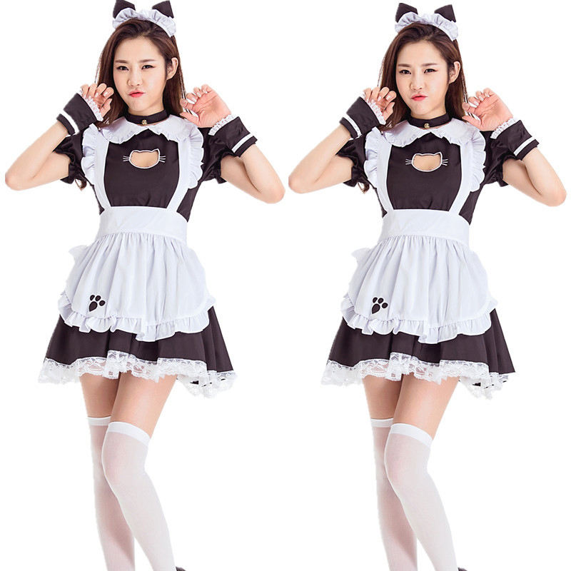 Plus Size Cat Maid Oktoberfest Outfit Cosplay Sexy Lolita Anime Cute Soft Girl Maid Uniform Appealing Set Stage Costume