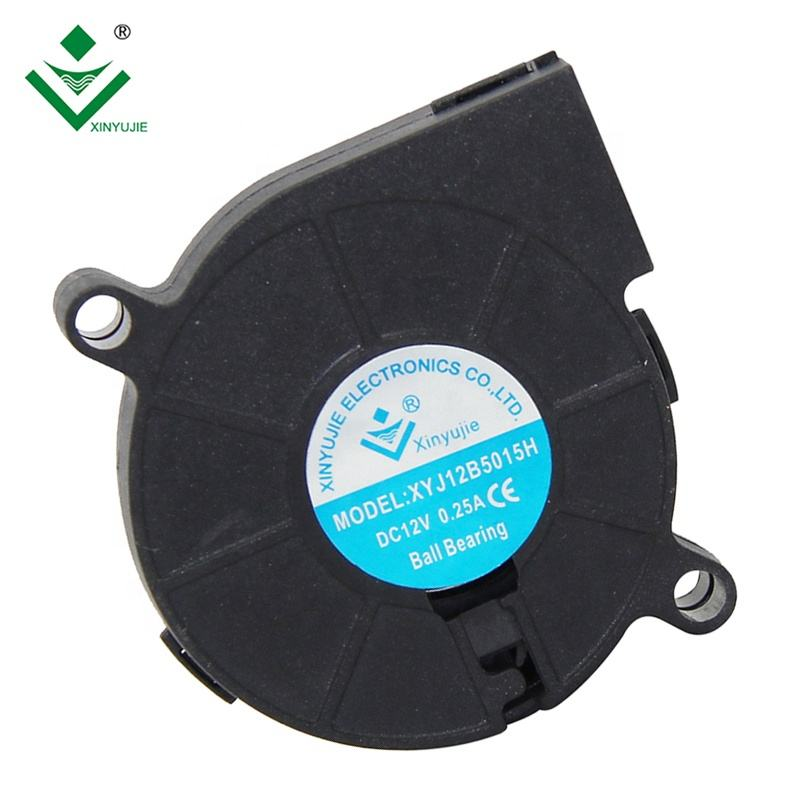 50mm 12V high speed silent waterproof centrifugal fan 50X50X15mm for printers