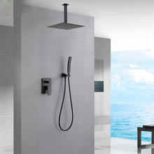 Thermostatic Wall Mounted Waterfall Faucet Sets Concealed Rain Shower Mixer With Shower Head