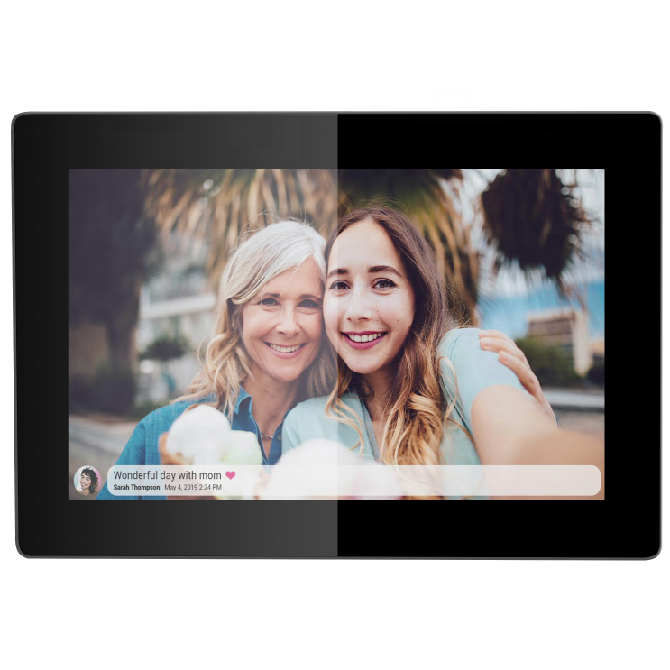 wifi photo frame High resolution 10 inch lcd display panel touch screen smart photo frames support hd photo and video display