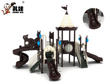 Children amusement park outdoor playground plastic slide for kids