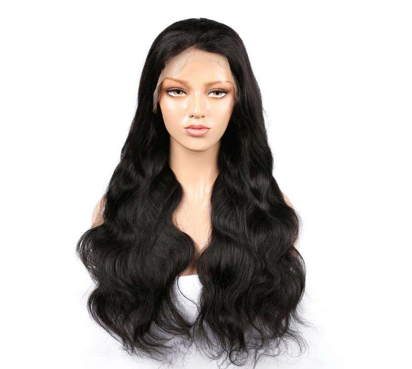 Wholesale 100% Natural Virgin Hair Lace Wigs Body Wave Brazilian Hair Unprocessed Lace Front Wigs