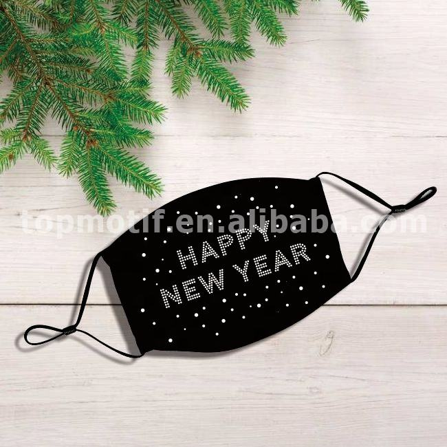 Bling Rhinestone Happy New Year Iron on Transfer Design
