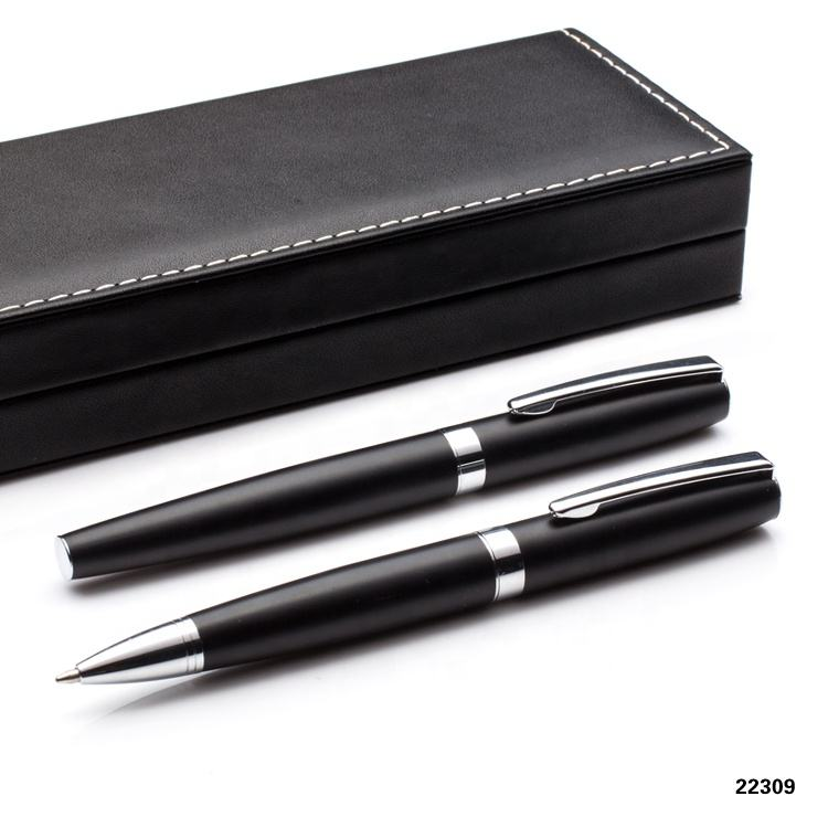 Pen Gift Set Hot Selling Metal Ballpoint Fountain Pen Set In Gift Box Custom Pens Logo