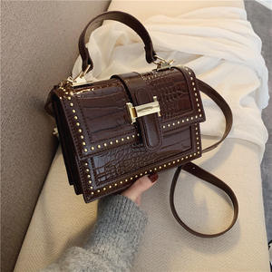 Newest fashion Design ladies handbags and purses 2020 women crossbody bags with rivet