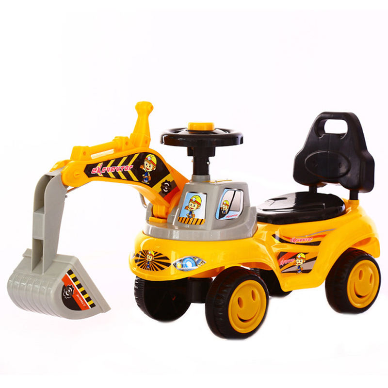 Factory price kids ride on excavator toys/mini kids children ride on cars/baby gift babies boys sliding car excavator