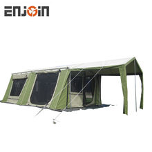 ENJOIN Large 10 Person Family Canvas Cabin Tent Great for Family, Guest, or Any Outdoor Sport Adventure Camping
