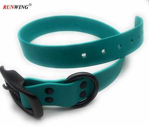 Waterproof Silicone Dog Collar With Metal Buckle Adjustable
