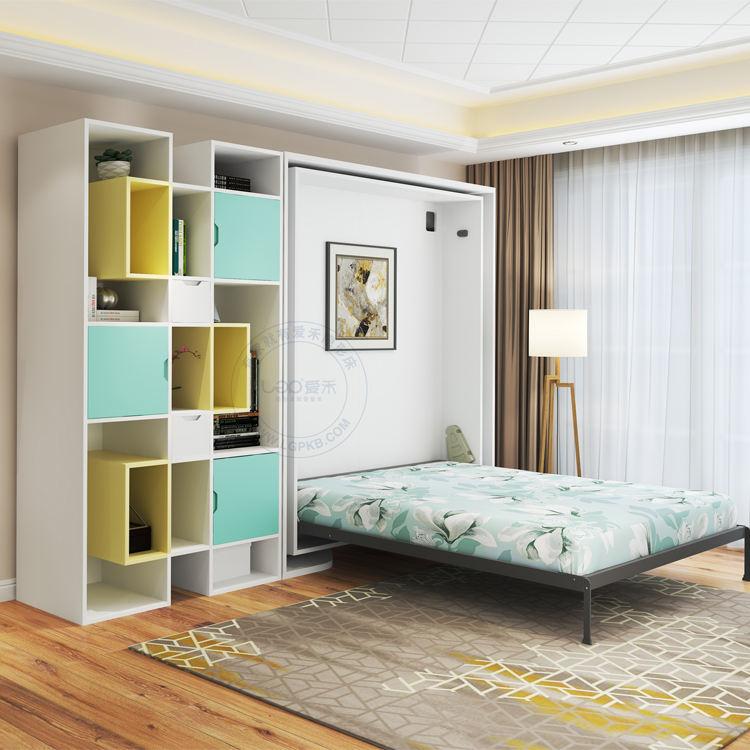 현대 침실 세트 공간 절약 머피 침대 다기능 수직 접이식 숨겨진 벽 침대