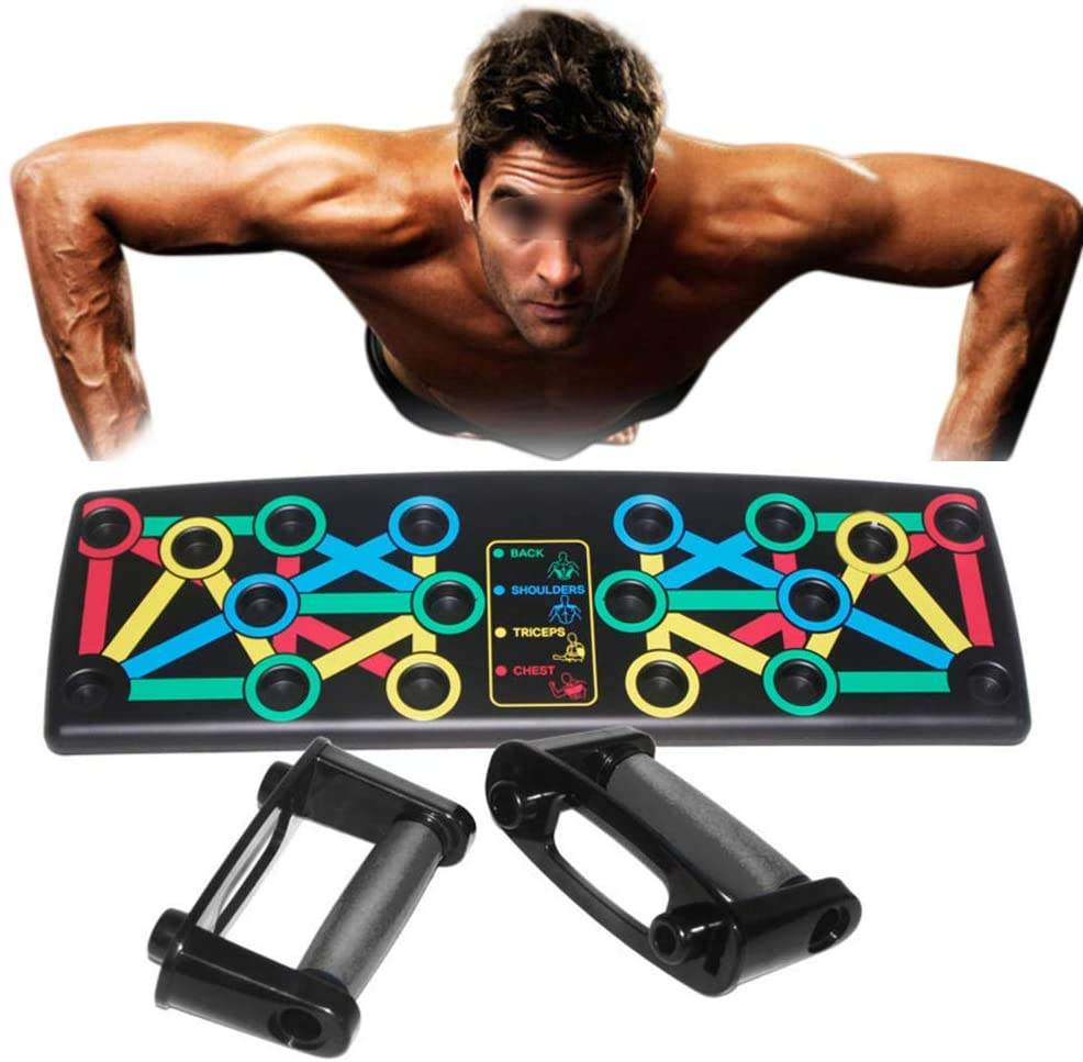 Newest Folding Push Up Board Body Building Exercise Tools Push up Stands 9 in 1 Portable Bracket Board for Home Fitness