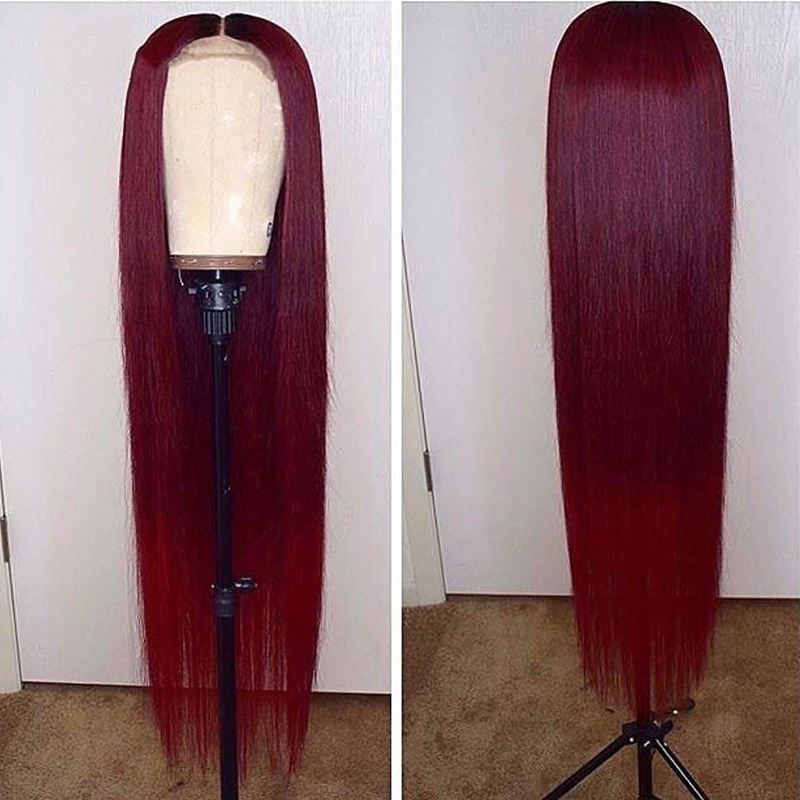 26 28 30 inch Transparent Brazilian Straight Human Hair Wigs #99 /1B99J/Blonde Color Remy Hair 150% Lace Frontal Wigs
