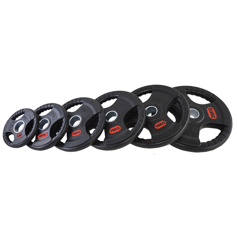 Black Rubber Barbell Weight Plate For Weight lifting Training