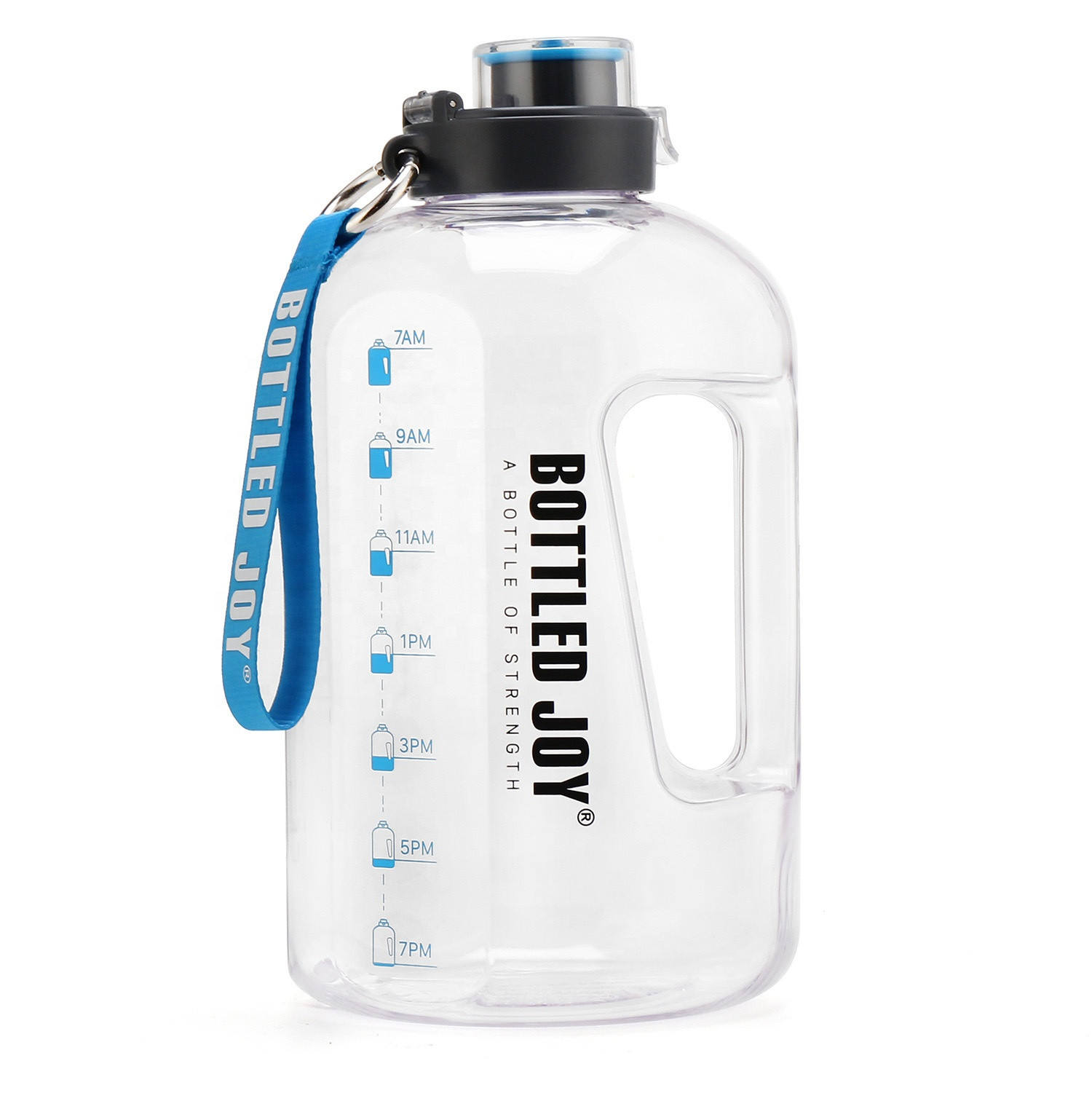BPA Free 1 Gallon Large Size Water Bottle Hydration With With Motivational Time Marker Reminder For Camping Workouts And Outdoor