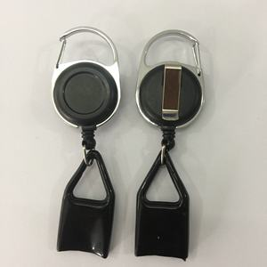 Retractable Key CHAIN โลหะ Retractable Badge Reel Lighter ผู้ถือ