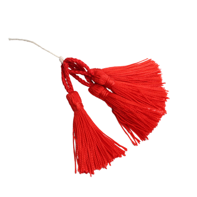Decorative Graduation Dye Bookmark Nylon Highlight Leather Cotton Cord Mini Silk Hanging Tassel