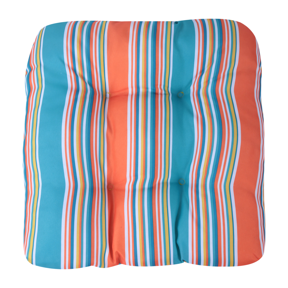 Multi-color striped print 50*50 outdoor indoor foam cushion chair seat pads