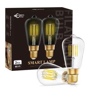 Tunable White CCT 2200-6500K Tuya Smart LED Filament Bulb Dimmable ST64 8W WiFi Smart Bulb