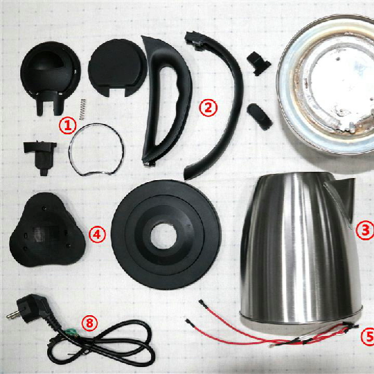 Factory kitchen appliance stainless steel surface plastic bottom heater electric kettle spare parts