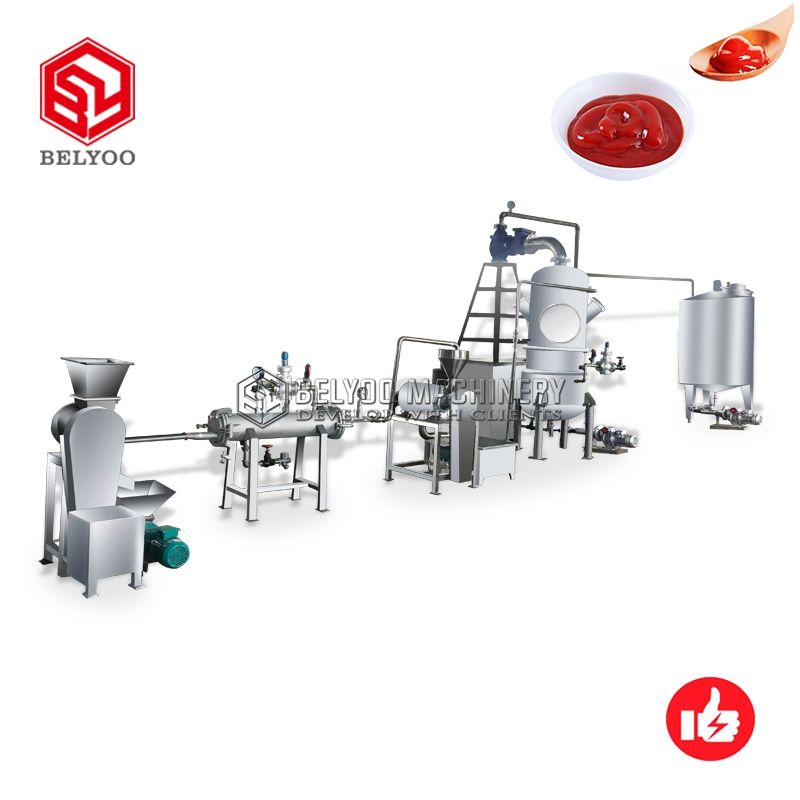 Hot Selling Fresh Chili Salsa Tomato Sauce Paste Processing Ketchup Making Machine Tomato Paste Production Line
