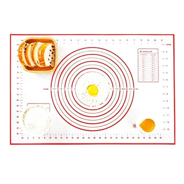 Non Stick Silicone Baking Mat For Pastry Rolling With Measurements