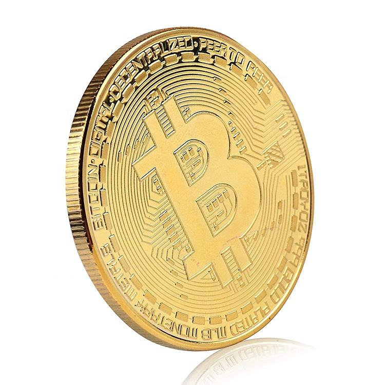 24K Gold Plated BTC Limited Edition Collectible Bitcoin Commemorative Coin