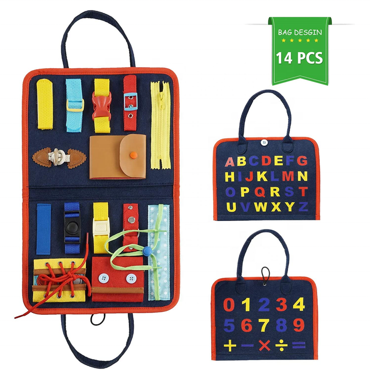 Busy Board for Toddlers Montessori Early Education Activity Toys Bag Designed Enlighten Toy for Infants