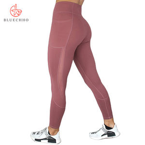 Women Athletic Fitness Compression Tights High Waisted Workout Ladies Leggings With Pockets