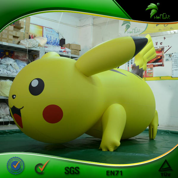 Hongyi Toys Cute Inflatable Yellow Pikachu Inflatable Famous Riding Pokemon Inflatable Movie Model