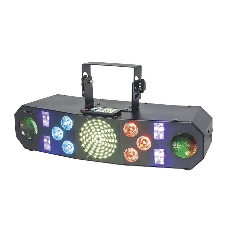 Factory Price UV Wash Moon Strobe Laser 5in1 Effect 60w Colorful LED Stage Light For DJ KTV Show Party