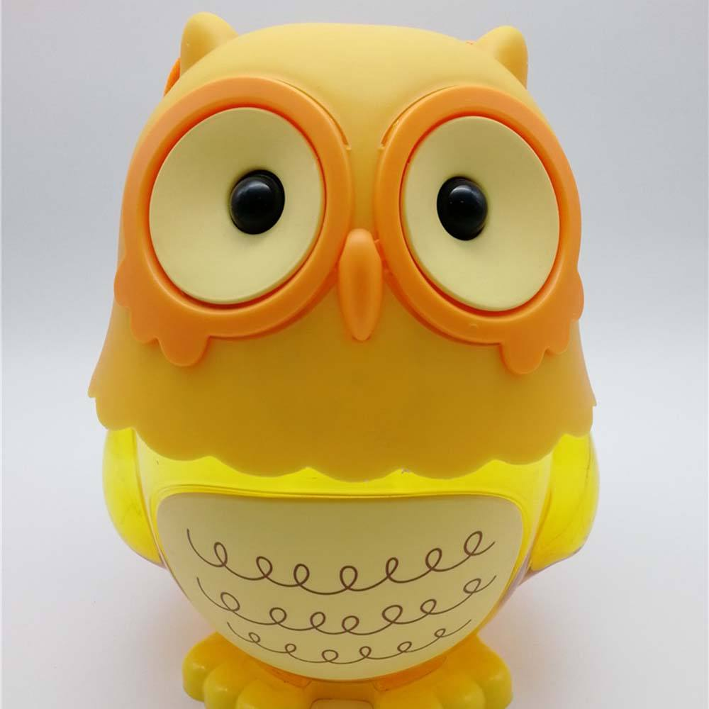 Qinqin Owl Animal Shaped with piggy bank Cup Jelly with Fruit Flavors