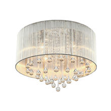 Round Wrought Iron Bar Lighting Fittings K9 Crystal Chandelier Light Pendant