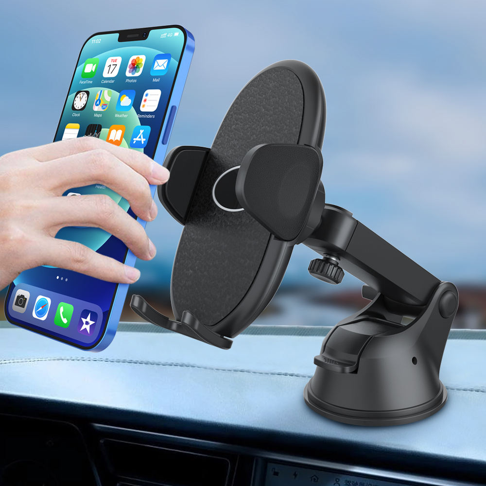 Big Phones Friendly Strong Sticky Suction Cup Mobile Holder for Car Dashboard Windshield Compatible with All Mobile Phones