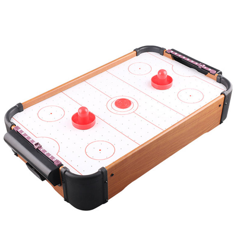 Houten Mini Tafel Top Air Hockey Console Game Set Tabletop Lucht Aangedreven Hockey Tafel Indoor Sport Game