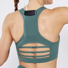 Hot Selling Wholesale Top Fitness Shockproof Running Sport Bra,Women Sexy Yoga Sport Bra With Back Pocket
