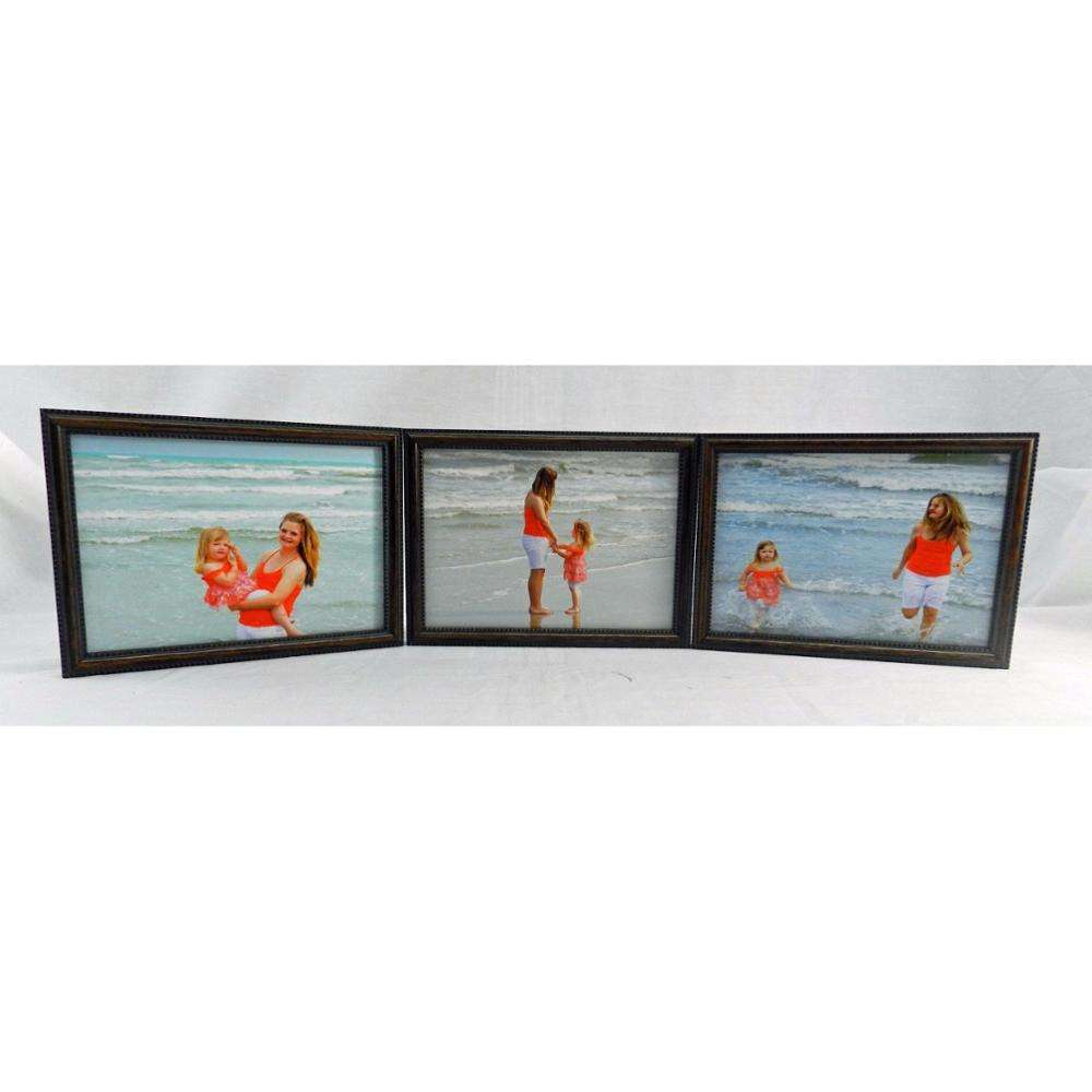 4x5 4x6 5x7 8x10 Wood Picture Photo Frame Triple Hinged Horizontal New
