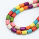 Hot Sale 8x6mm Multi Color Dyed Howlite Tube Beads Gemstone Beads for Jewelry Making