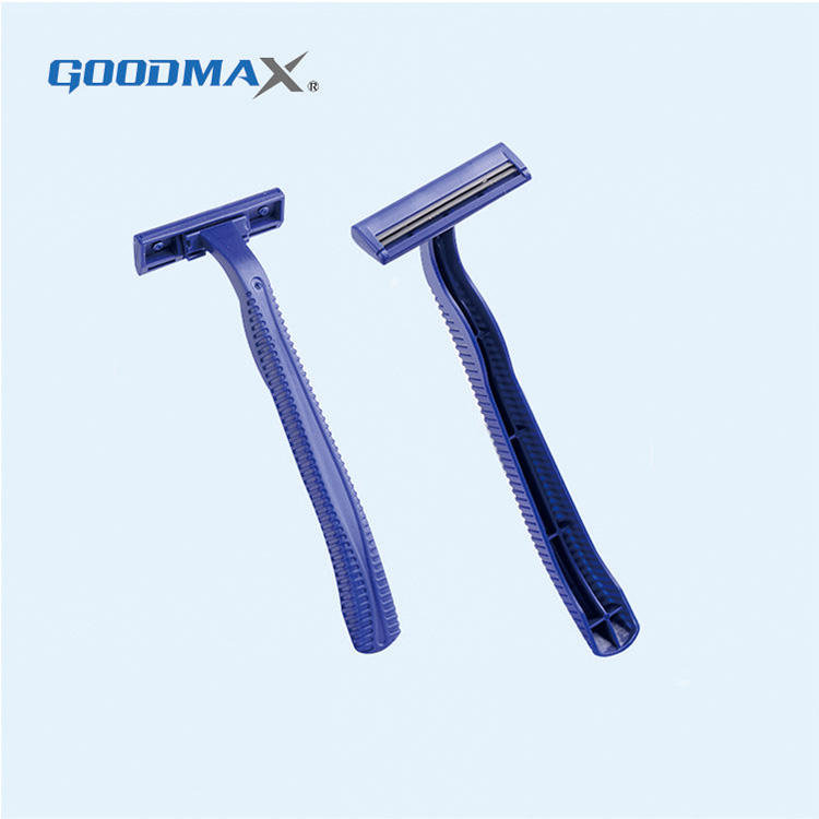 High Quality Blue Display Card Safety Shaving Stainless Steel Double Edge Razor Blades