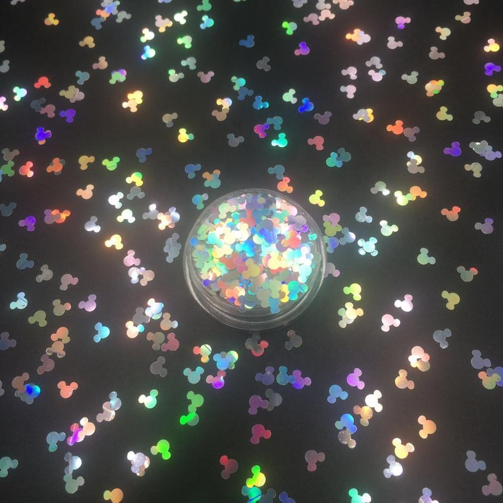 Various shapes of sequins solvent resistant crystal glitter powder