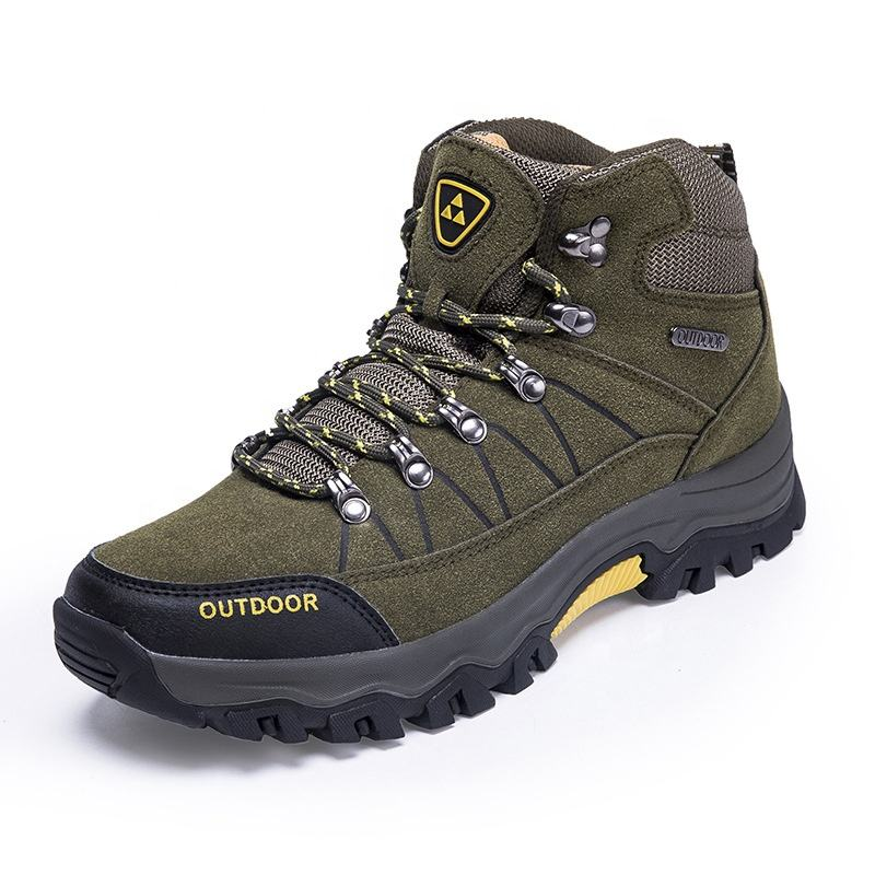 Latest mid-cut mountain outdoor men sport hiking shoes trekking shoes